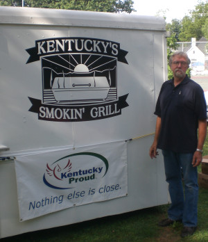 BBQ Trailer and Barbeque Master David Kleckner